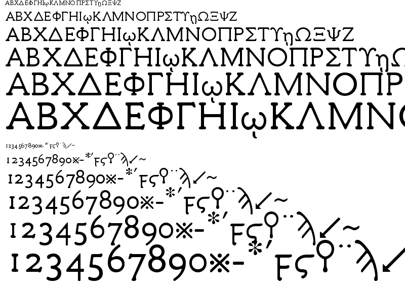 19 Free Greek Vector Fonts Download Images - Free Wood Type