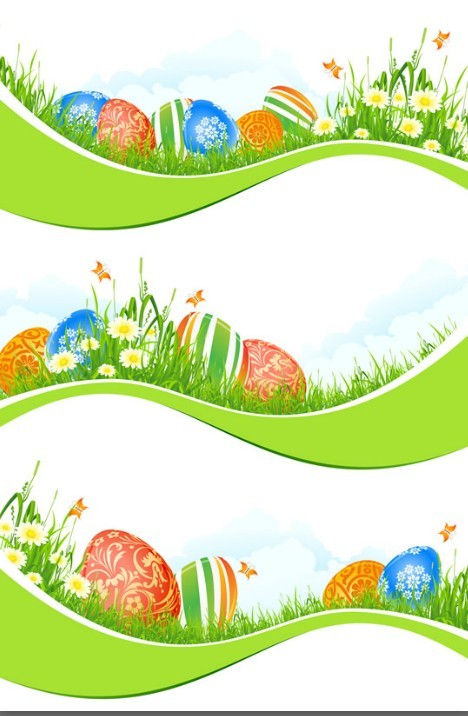 Happy Easter Free Vector Borders