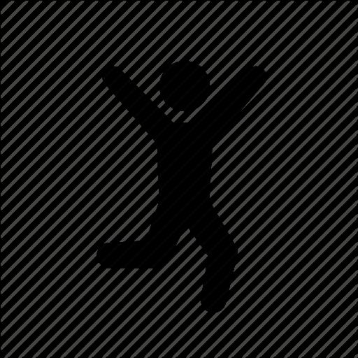 Happy Stick Figure Icon