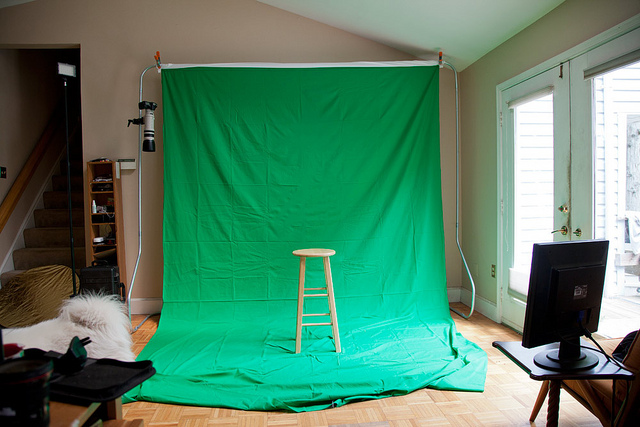 Homemade Backdrop Stand