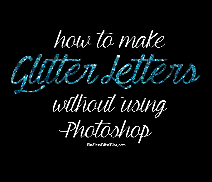 How to Make Glitter Letters in Photoshop