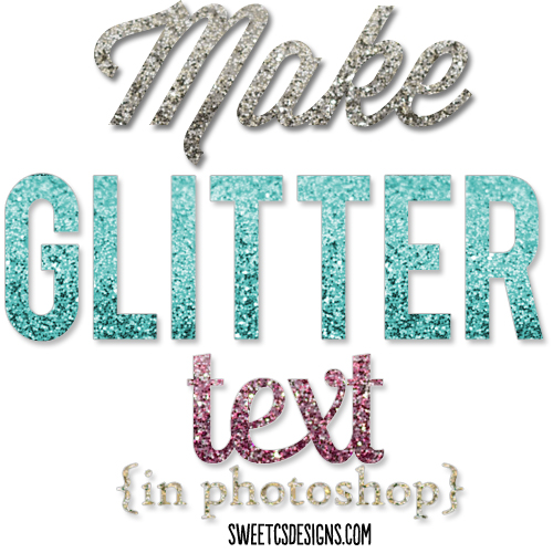 How to Make Glitter Text Photoshop