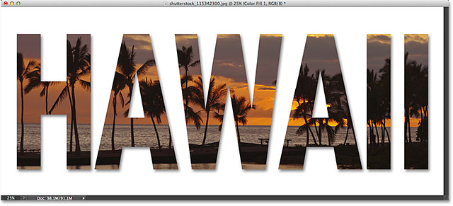 How to Put Image Inside Text Photoshop