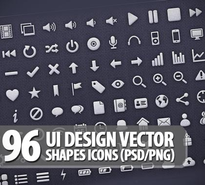 13 UI Photoshop Vector Shapes Images
