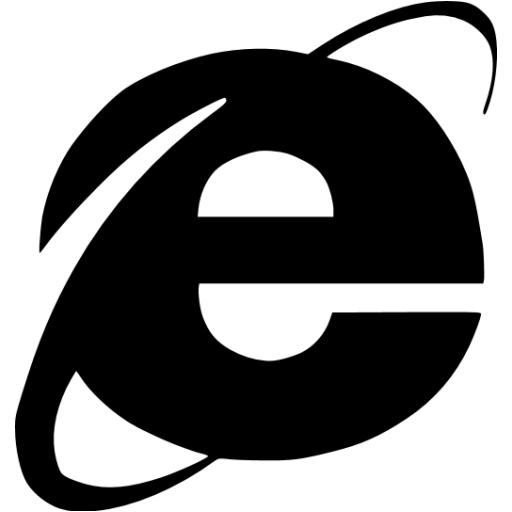 6 Internet Explorer Icon White Images