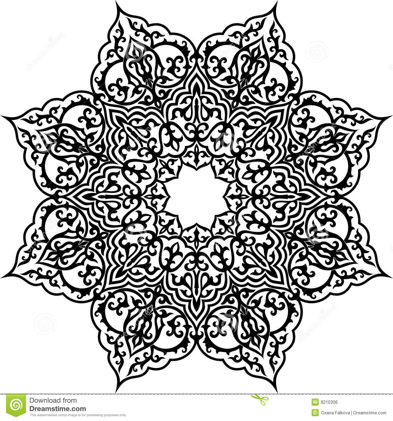 Islamic Geometric Pattern Vector