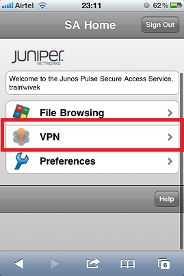 Juniper VPN Client Icon