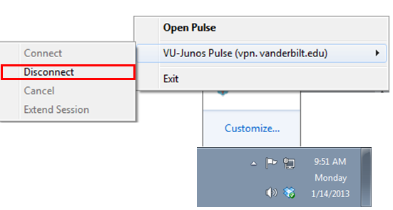 Junos Pulse VPN Icon