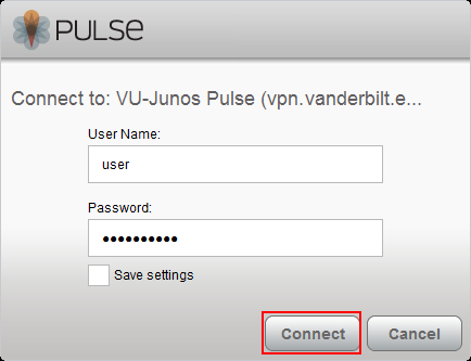 Junos Pulse VPN Windows 1.0
