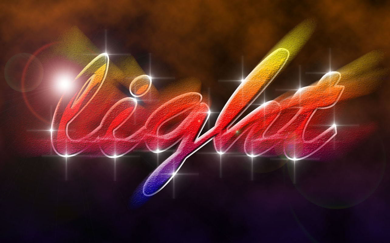 Light Text Effect Photoshop Tutorial