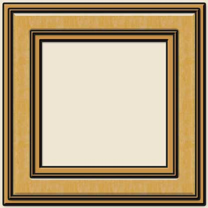 Light Wood Square Frames