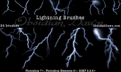 15 Lightning Photoshop Brushes Images