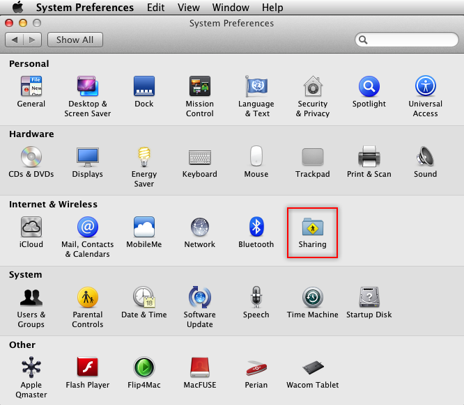 Mac OS System Preferences Icon