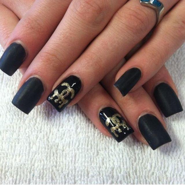 Outstanding Acrylic Matte Black Nails Embellishment - Nail Paint ...
