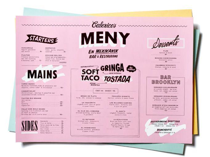 Best graphic design menu images creative restaurant