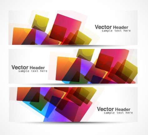 Modern Banner Vector Graphics