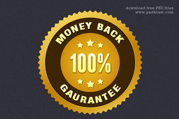 Money-Back Guarantee Gold Seal