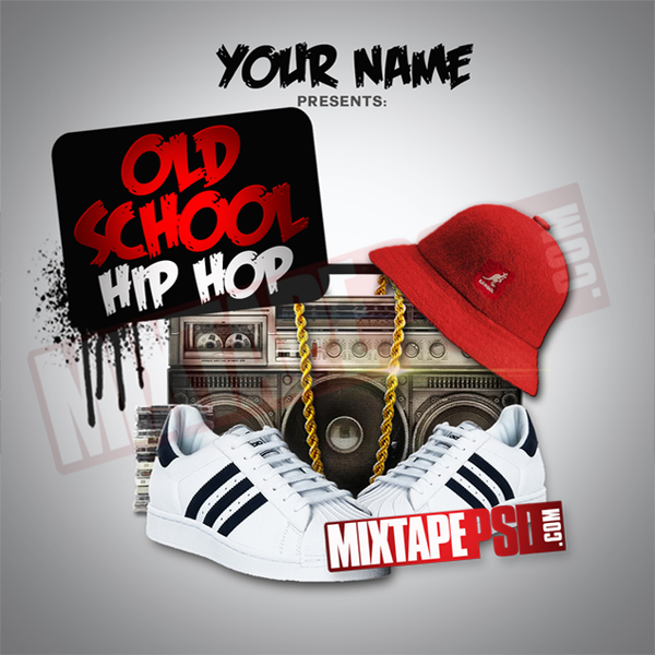 Old School Hip Hop Mixtape Cover