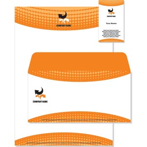 Orange and Black Vector Template