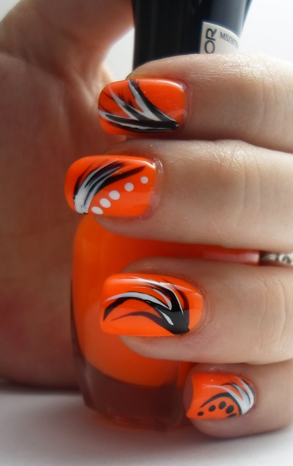 Orange Nail Art Designs