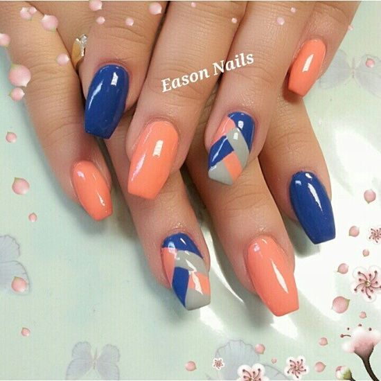 Orange Nail Designs