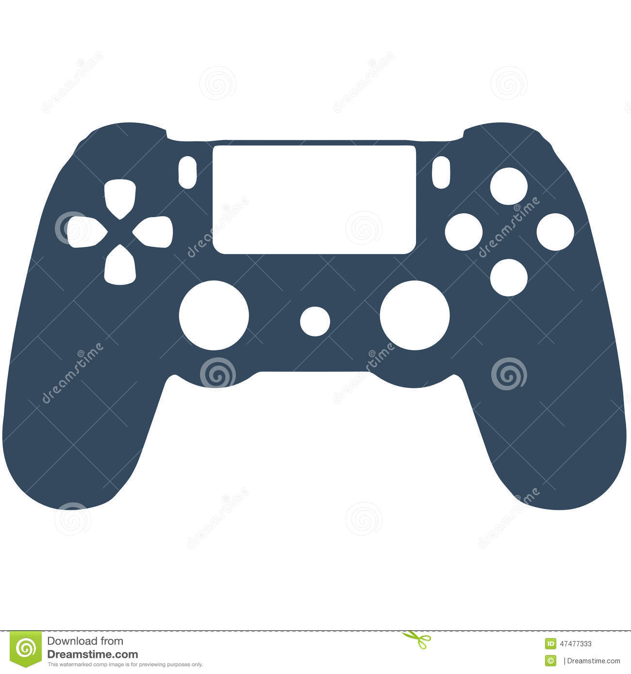 PS4 Game Controller Cartoon
