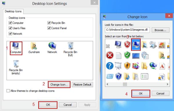 Restore My Computer Icon Windows 8 Desktop
