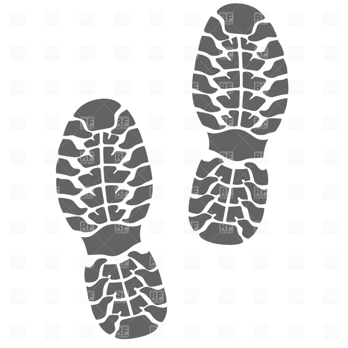 13 Shoe Print Vector Art Images