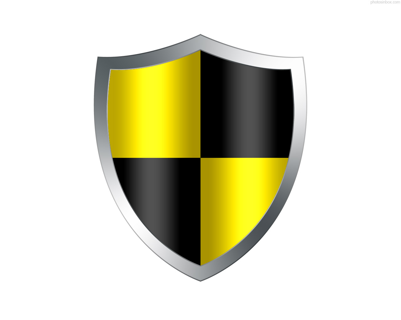 17 Black And White Security Shield Icon Images