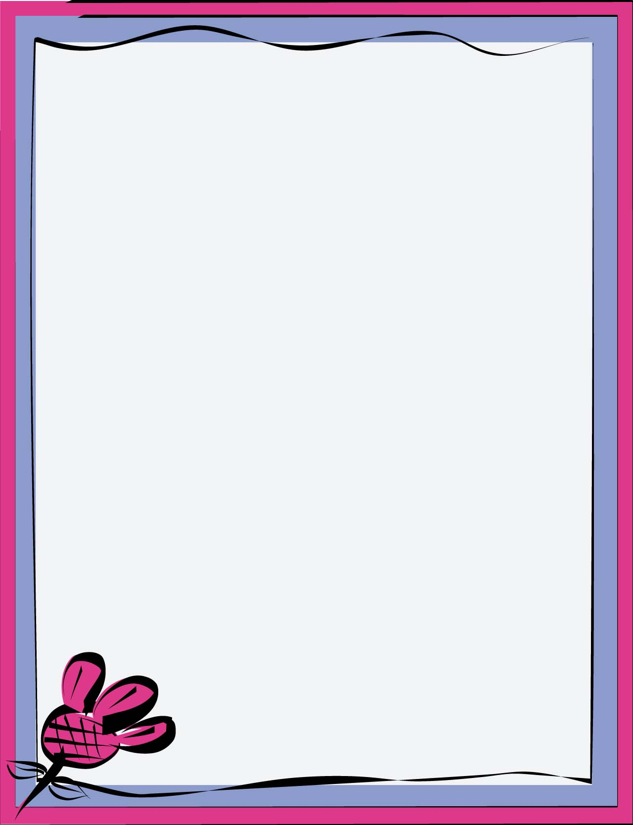 simple frame border. Simple Flower Border Frame T