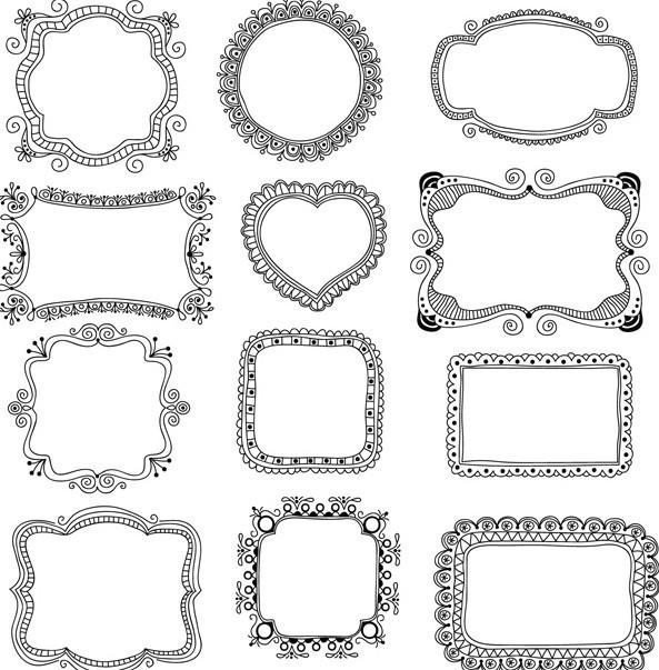 Simple Frame Vector Floral Pattern
