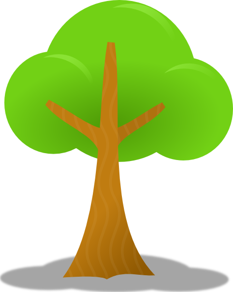 12 Cartoon Tree Vector PNG Images