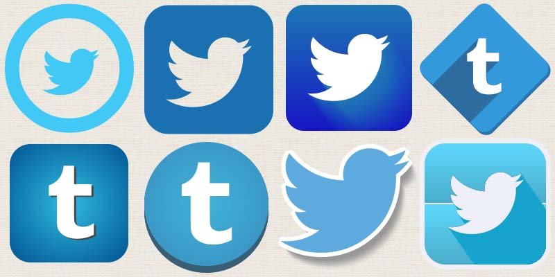 Small Facebook and Twitter Icons