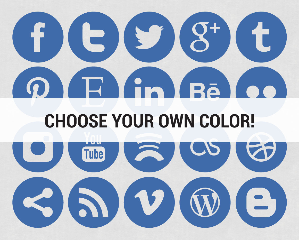20 Circle Social Media Icons For Website Images