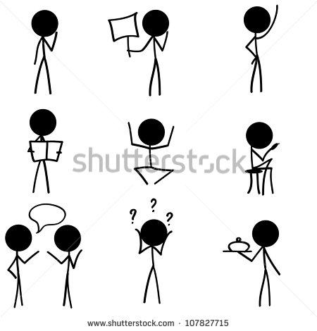 16 Stick Figure Icon Images