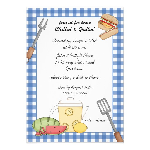 16 free printable cookout invitations template images free cookout