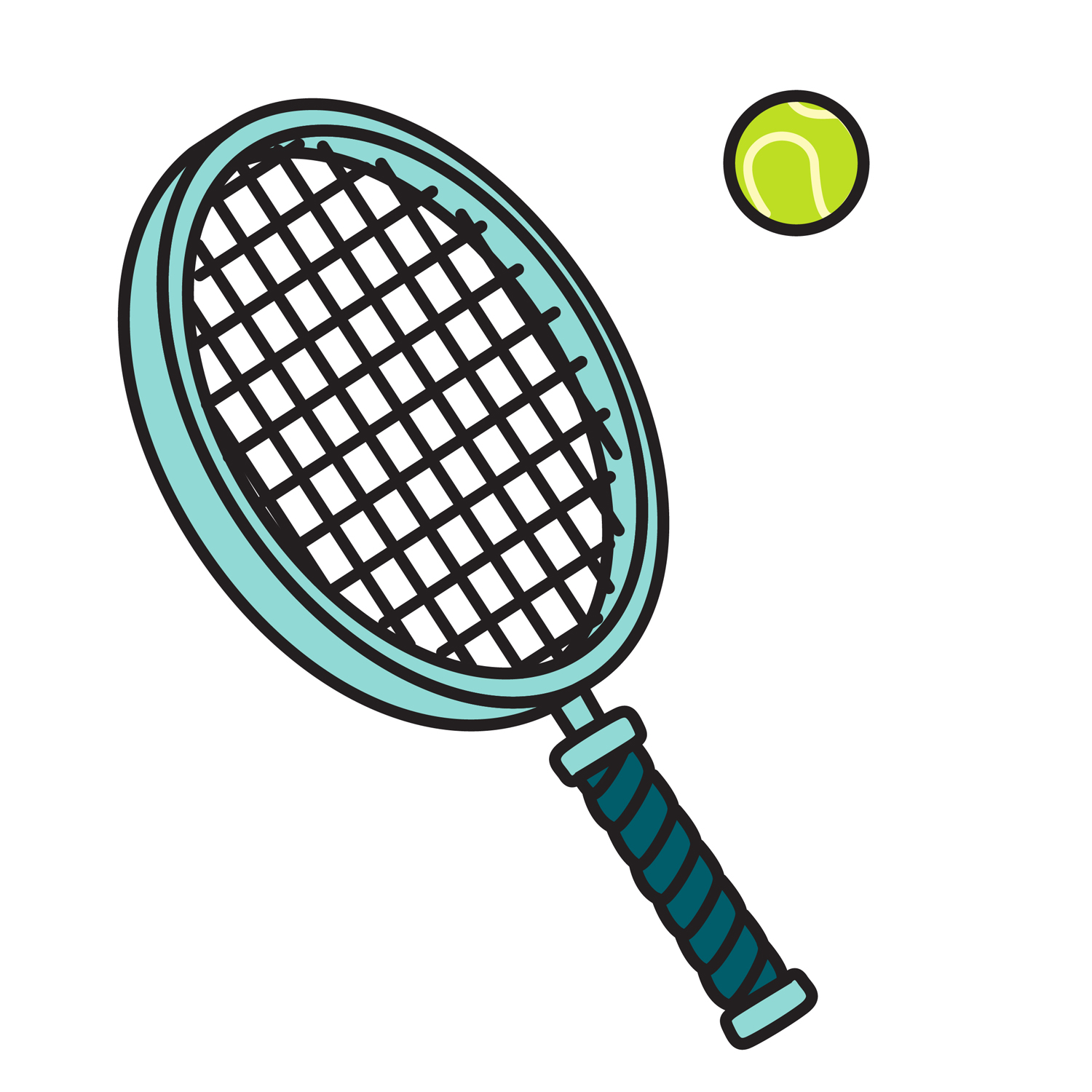 14 Tennis Racket And Ball Vector Images