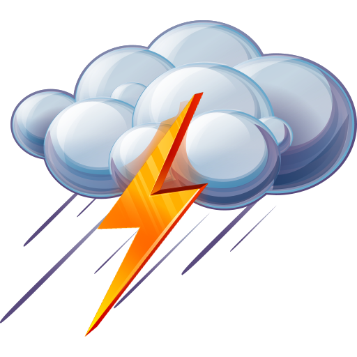 8 Thunderstorm Weather Icon Images