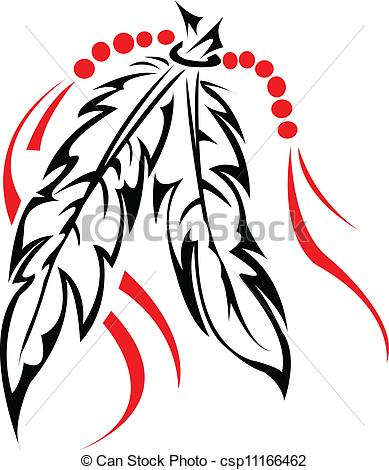 6 Indian Feather Vector Images - Feather Silhouette Clip Art, Bird ...