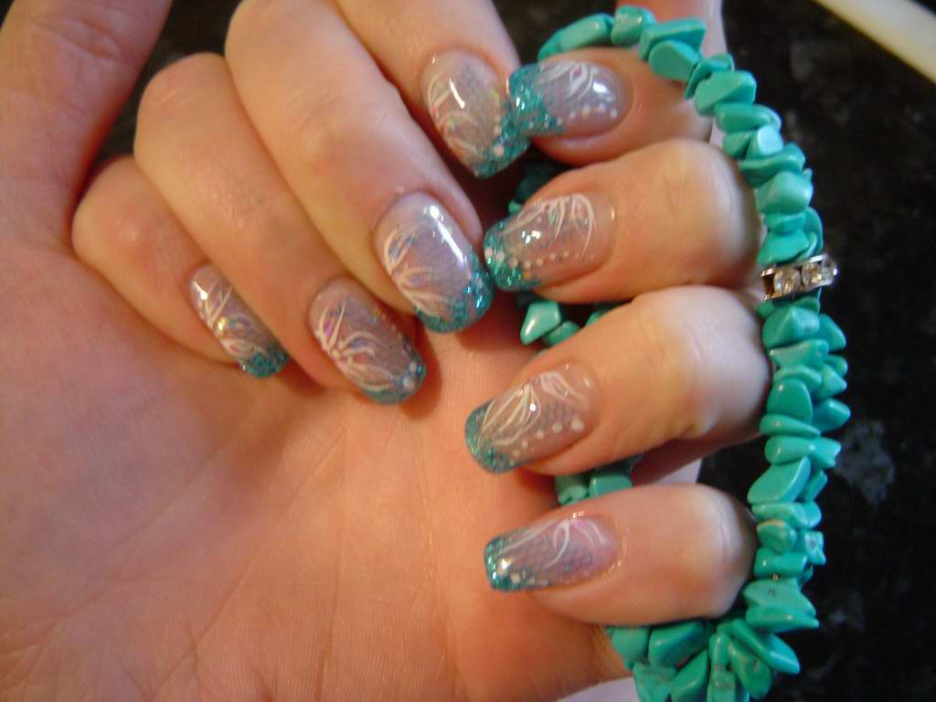 13 Turquoise Nail Art Designs Images Turquoise Nails With Designs