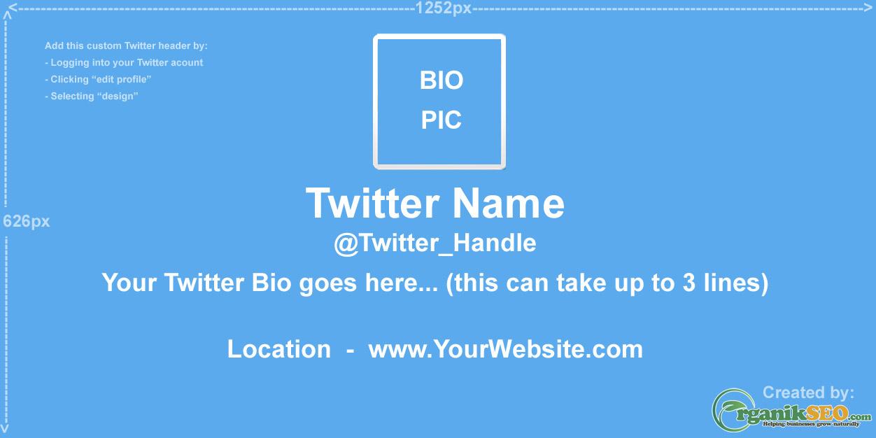 Twitter Header Design Template