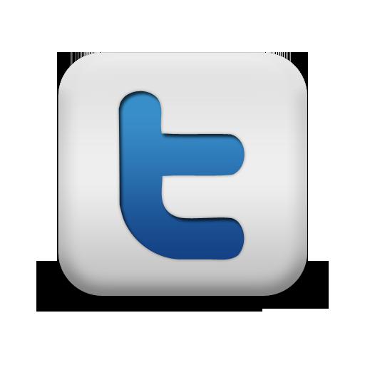 Twitter White Social Media Icons
