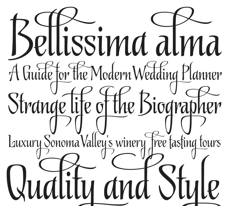 nice writing fonts