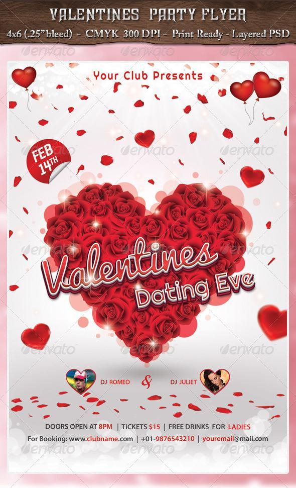 Valentine Flyer PSD