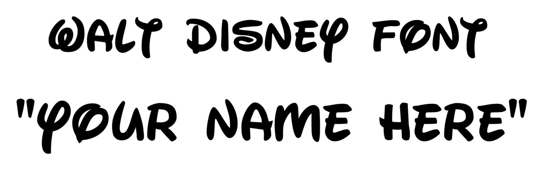 Walt Disney Font Name