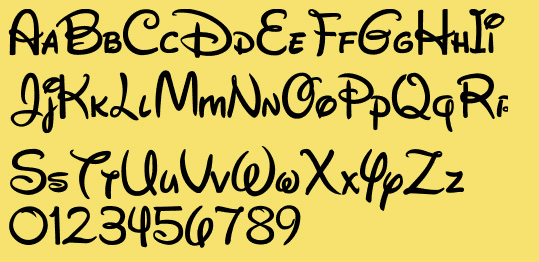 Disney Letters Font - Informatin For Letter