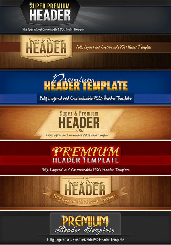 Website Header Templates