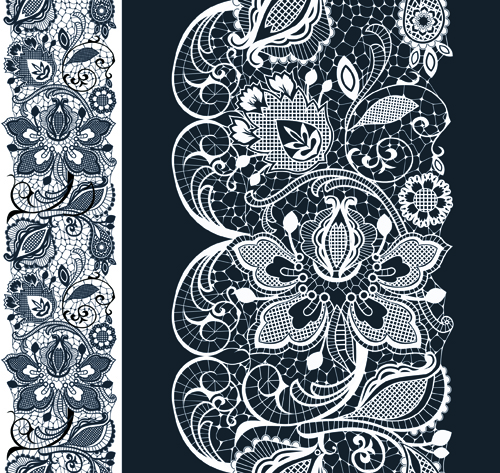 17 White Lace Vector Images