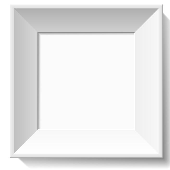 White Simple Frame Vector