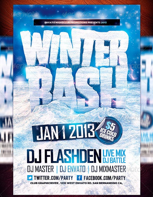 18 Winter Flyer PSD Images